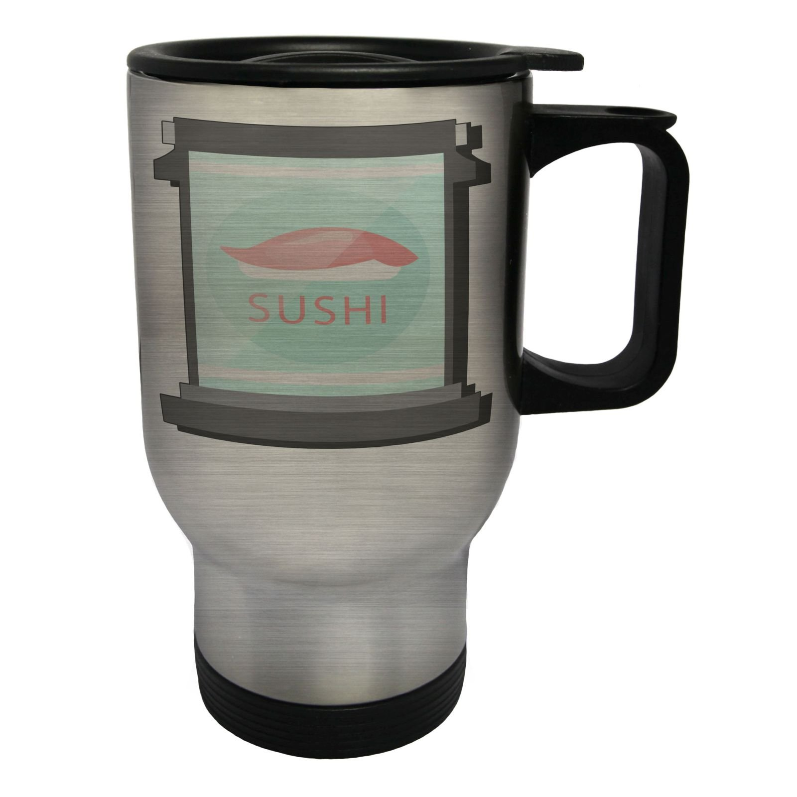 Sushi Cafe Restaurant Stainless Steel Thermo Travel Mug 14oz p230ts