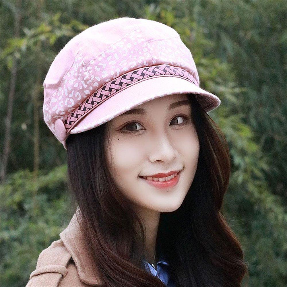 Las mujeres de moda señoras hat hembra color otoño Beret gorra octogonal pintor cap cap hat transpir...