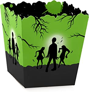 Big Dot of Happiness Zombie Zone - Party Mini Favor Boxes - Halloween or Birthday Zombie Crawl Party Treat Candy Boxes - Set of 12