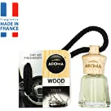 Aroma Car Air Freshener Scent Fragrance Wood Mini 4 ml Black Hanging Bottle