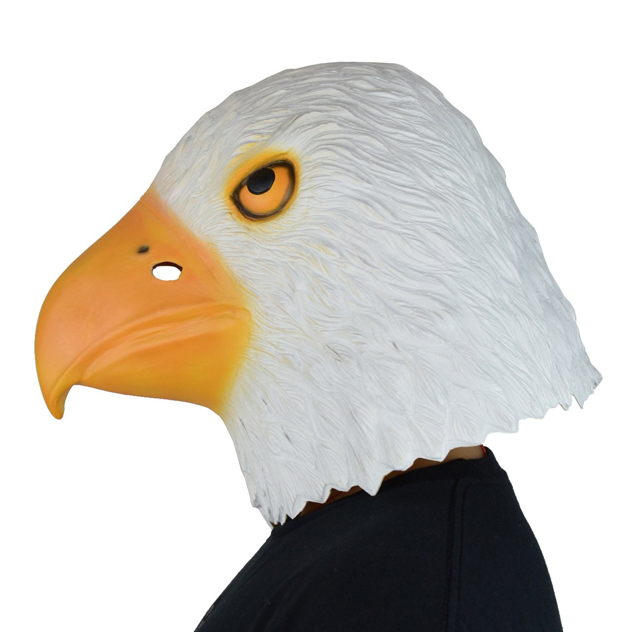 Amazon.com: LarpGears Halloween Costume Latex Eagle Mask Funny ...