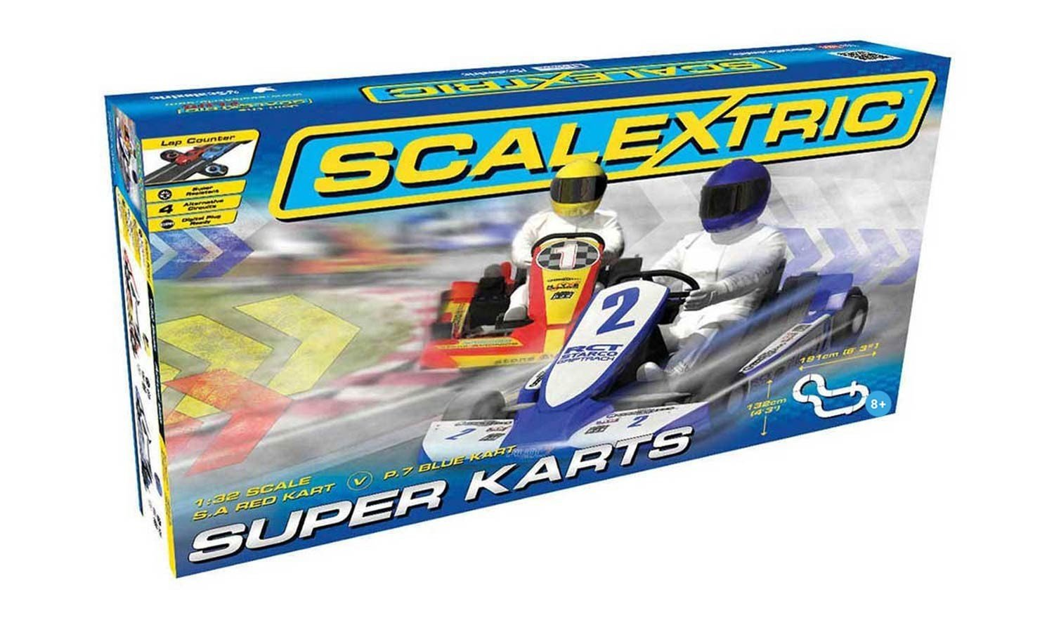 Scalextric Super Karts 1: 32 Scale Slot Car Playset Hornby C1334T
