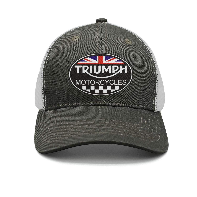 Unisex Mens Triumph Motorcycle Logo Adjustable Baseball Dad Trucker Cap Hat