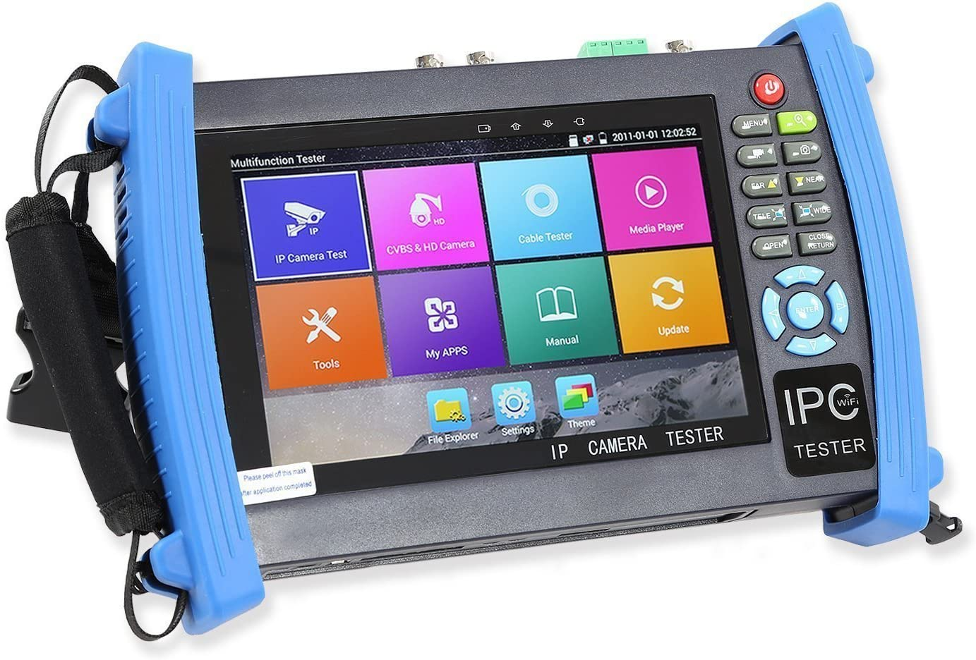 Wsdcam 7 Inch All in One 1080p Retina Display IP Camera Tester Security CCTV Tester Monitor with SDI//TVI//AHD//CVI//POE//WIFI//4K H.265//HDMI in/&Out//RJ45-TDR//Firmware Update Upgraded 8600ADHS-Plus