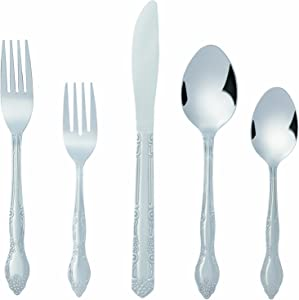 Bon Flora 20-Piece Stainless Steel Flatware Silverware Cutlery Set, Include Knife/Fork/Spoon, Dishwasher Safe, Service for 4