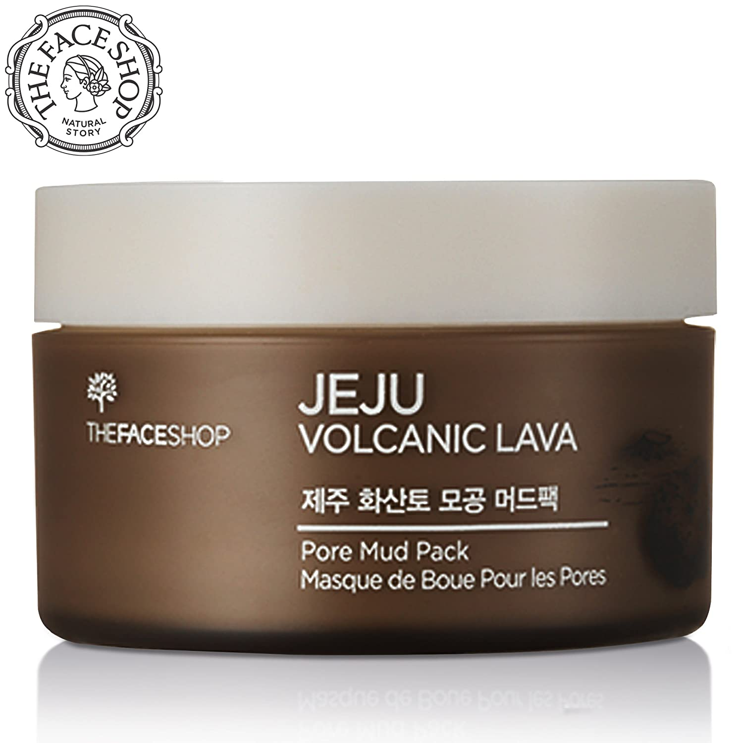 The Face Shop Jeju Volcanic Lava Pore Mud Pack, 100ml by The Face Shop Republic of Korea