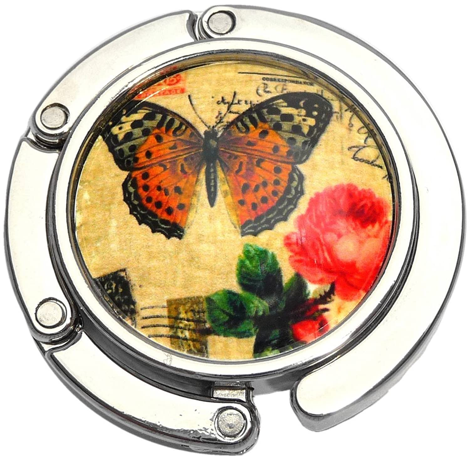 Butterfly And Flower Foldable Purse Hanger