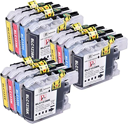 PerfectPrint - 12 Cartuchos de tinta de LC123 / LC121 compatibles ...