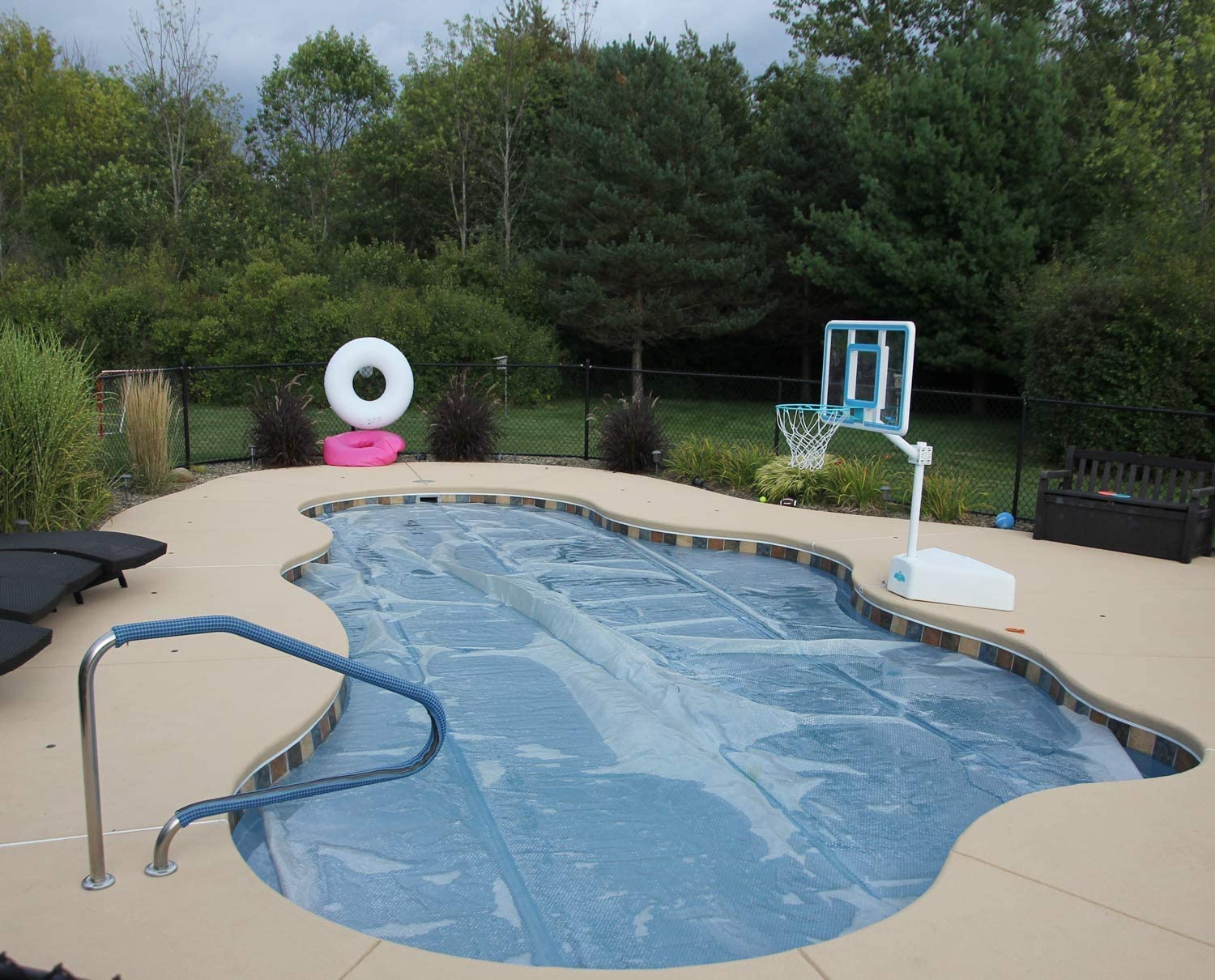 15Ft Pool Solar Blanket Protective Cover,Above-Ground Pool Mate Round Pool,8Ft Round Solar Pool Cover on The Swimming Pool and Prevent Water Evaporation,8Ft