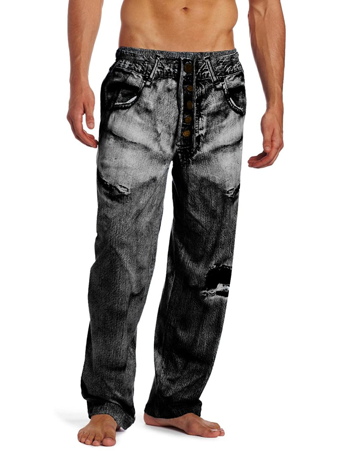 Mjc International Men's Generic Faux Denim Pajama Pant by Paul+Frank