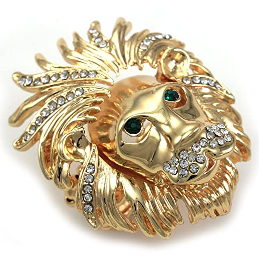 Lion Head Ring Adjustable Stretch Band Mens & Womens & La s Ring