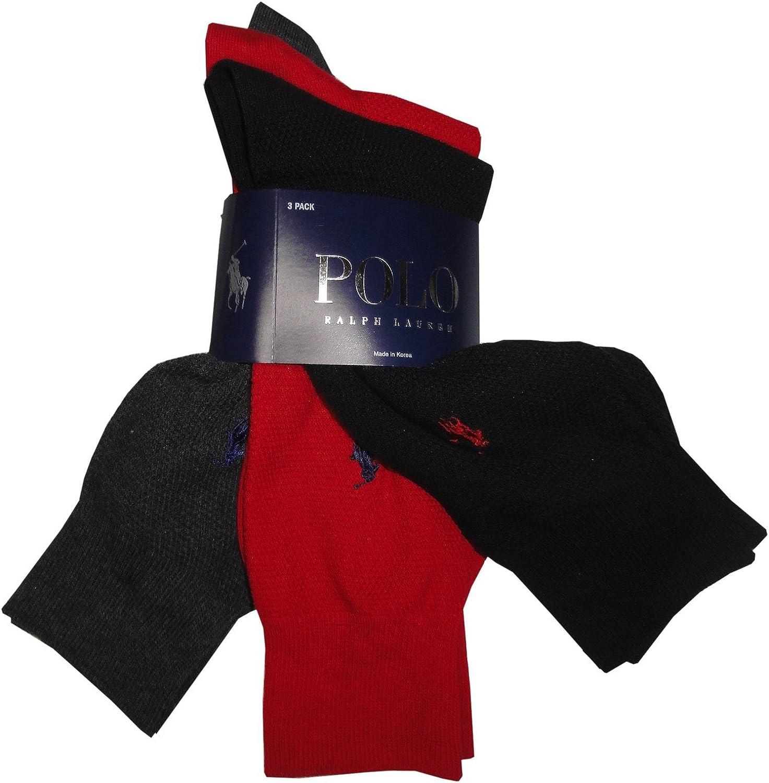 calcetines Polo de Ralph Lauren Para hombre, color negro, rojo y ...