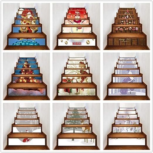 Sylar Decoración De Navidad Pegatinas De Santa Claus Y Muñeco De Nieve Decorativos Pegatina Escalera Creativa Decoración del Hogar: Amazon.es: Hogar