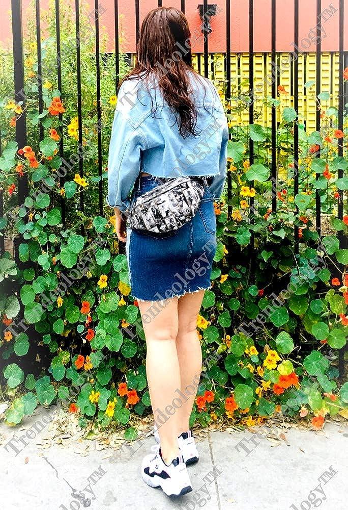 Magazine Cover Michelle Obama Patent Fanny Pack Waist Belt Bag Sling Bag X-LARGE Plus Size Adjustable