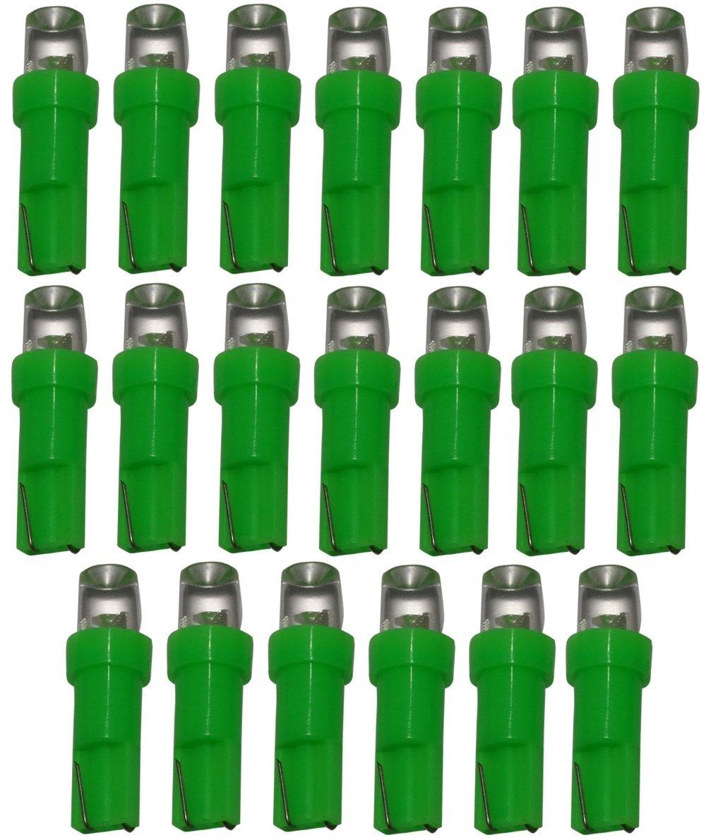 AERZETIX: 20 x Bombillas T5 24V LED verde para salpicadero de camion semirremolque SK2-C11765-B39