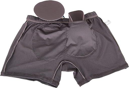 aea23a073f0 AZAZA Men s Coolon Padded Butt Boxer Brief Hip-up Underwear (M (28 ...