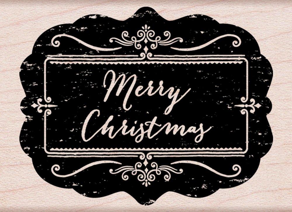 Hero Arts Chalkboard Merry Christmas Woodblock Stamp F5847