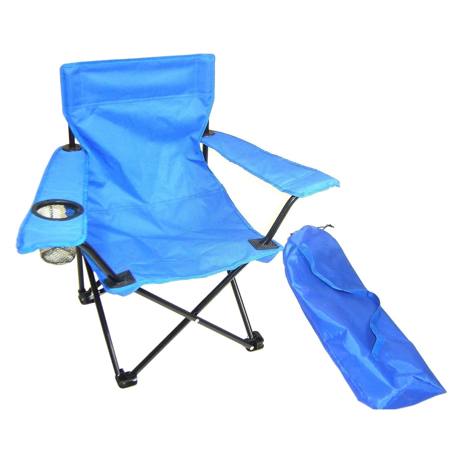 ZY Kids Folding Camp and Lawn Chair, Blue