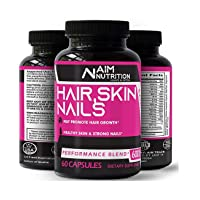 Hair Skin & Nails Supplement - Biotin Capsules Enriched with Vitamins, Calcium &...