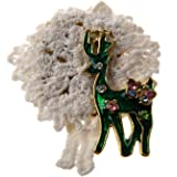 Goldfarbenen Holly Deer Brosche Christmas Gift