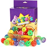 "48PCS Plastic Bell Cat Ball CHIWAVA Cat Kitten Chase Toy Size 1.6"" ~ 1.8"" 8 Types Assorted Color"