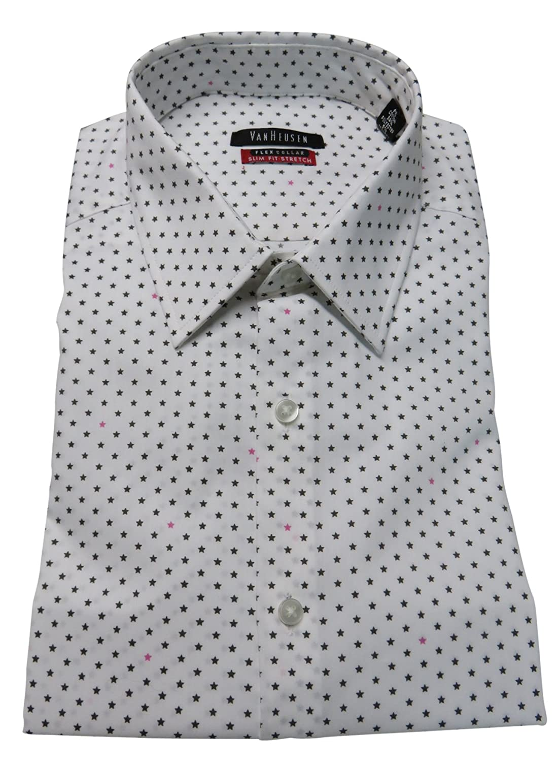 Van Heusen Mens Slim Fit Flex Collar Shirt Size 1612 32 33