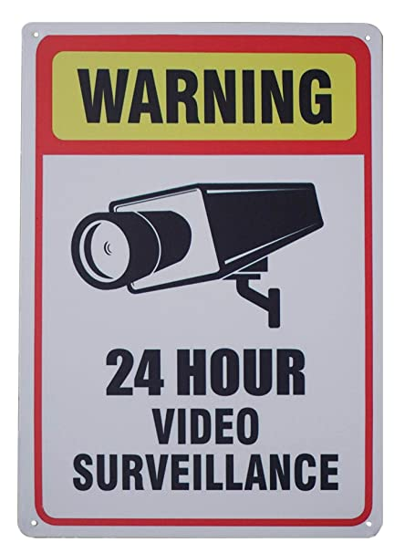 Amazon.com: Monifith Señal de advertencia de 24 horas para ...