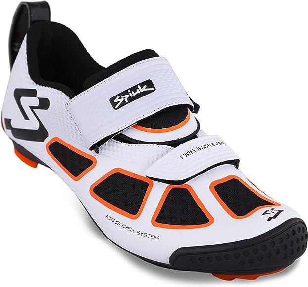 Spiuk Trivium Triathlon Zapatilla, Unisex Adulto, Blanco/Naranja/Negro, 40: Amazon.es: Ropa y accesorios