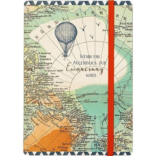 Tiempo de Viaje Reisezeit Spiegelburg 14555 Estuche Funda Protecci/ón Gafas Dise/ño Mapa del Mundo