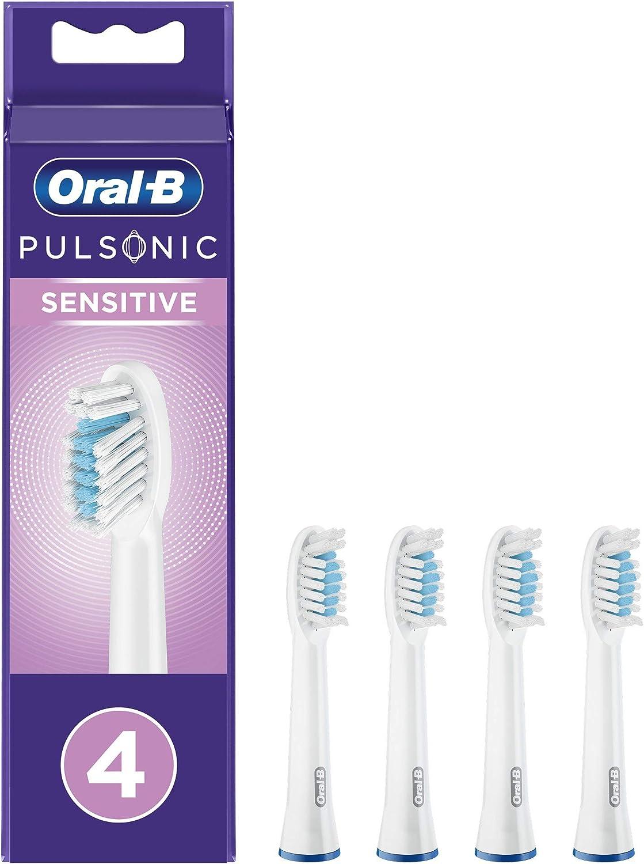 Oral-B Pulsonic - Juego de 4 cepillos de dientes sónicos (4 unidades): Amazon.es: Salud y cuidado personal