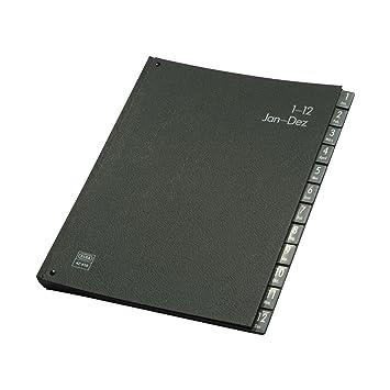 Elba 42416SW - Archivador (con separadores de enero a diciembre), color negro: Amazon.es: Oficina y papelería