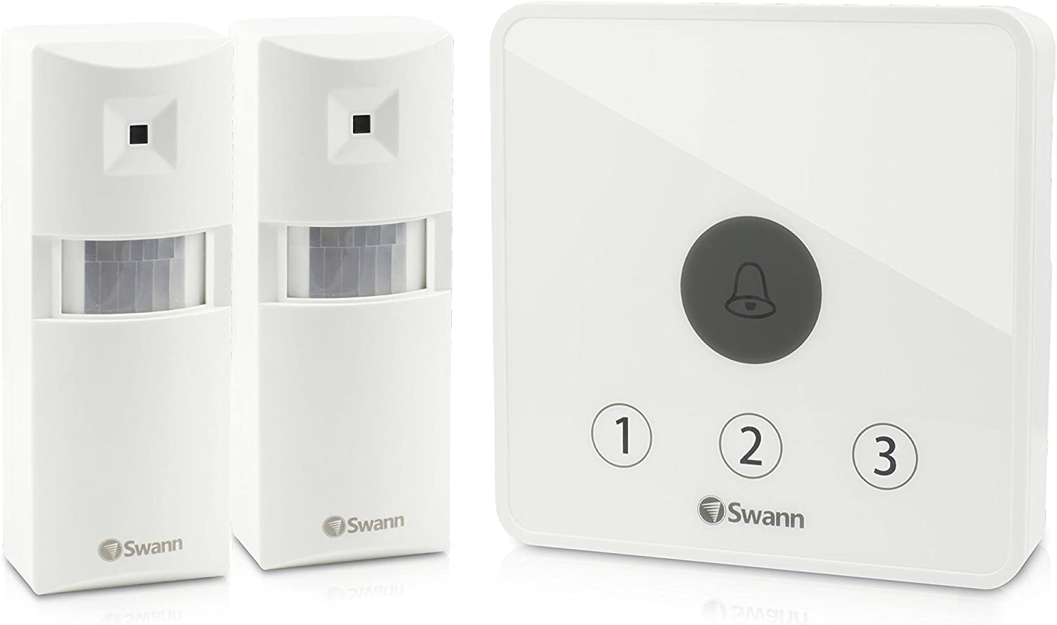 Swann Motion Sensor Alarm, Wireless Home Security PIR Motion Detect Door Alert Kit, Indoor and Outdoor Use