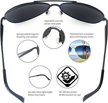 Amazon Com J S Premium Military Style Classic Aviator Sunglasses Polarized 100 Uv Protection Large Frame Black Frame Black Lens Sports Outdoors