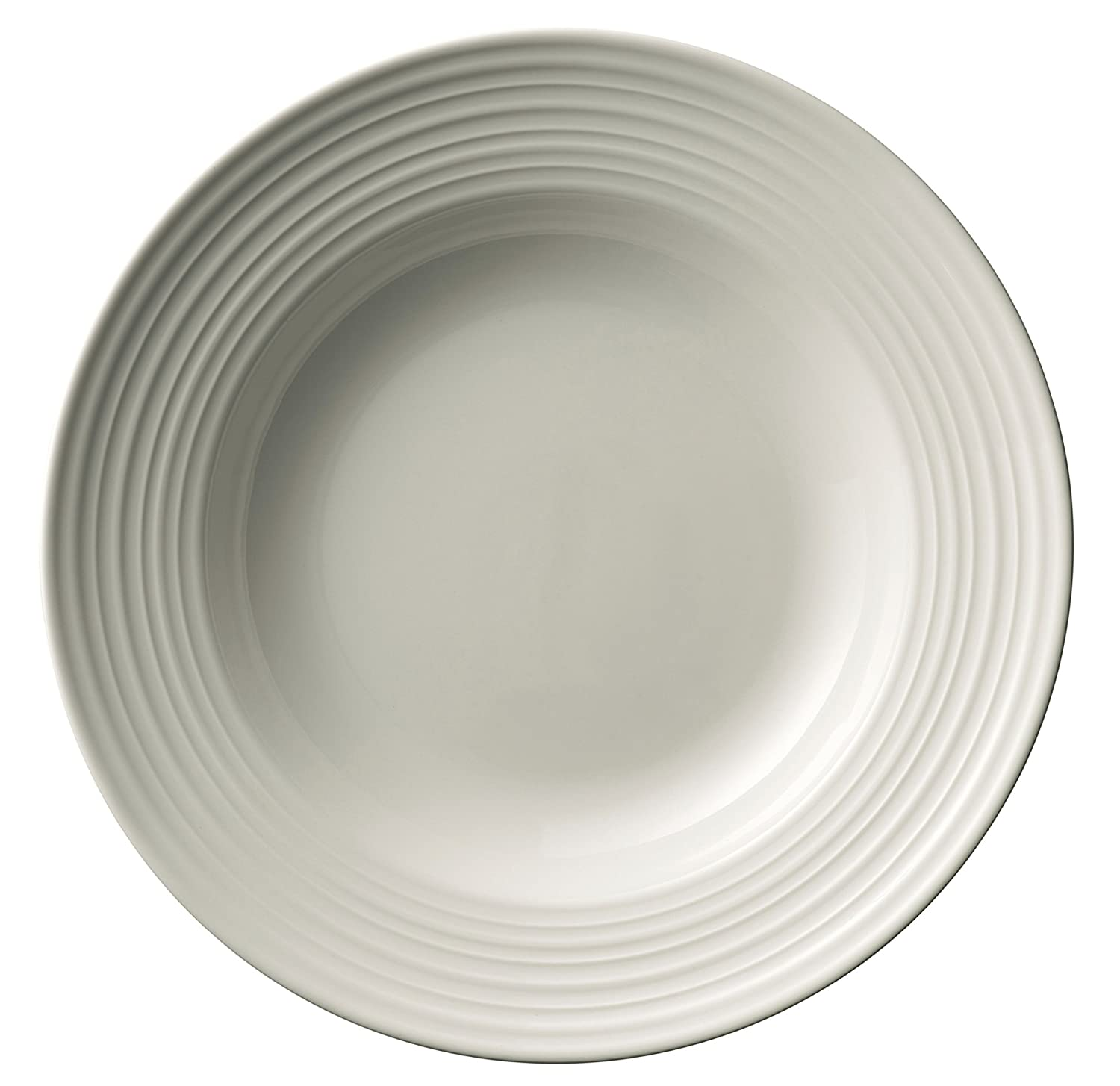 Belleek Pottery Ripple Pasta Bowls (Set of 4), White, Set of 4 7975