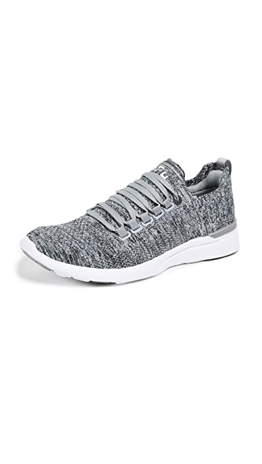 99413114bcf Athletic Propulsion Labs (APL) Women s Techloom Breeze Heather Grey White 5  ...