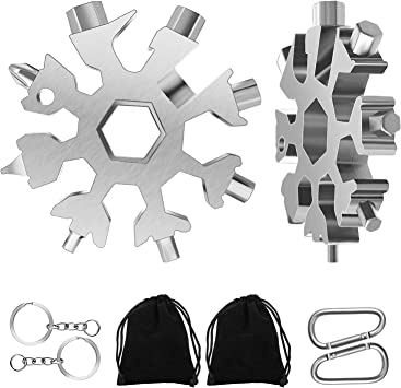 Multi-Tool 18-in-1 Snowflake Stainless Steel Pocket Size Light Weight Brand New.