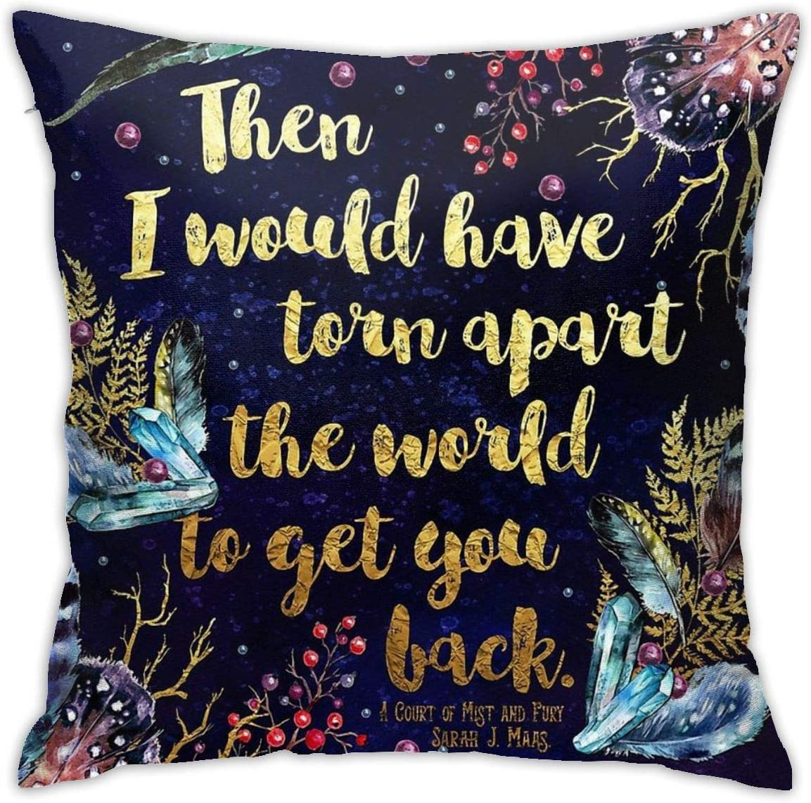 Torn Apart The World Throw Pillow