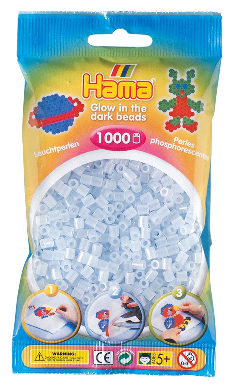 DAN Import  Hama Cuentas de color azul que brillan la oscuridad