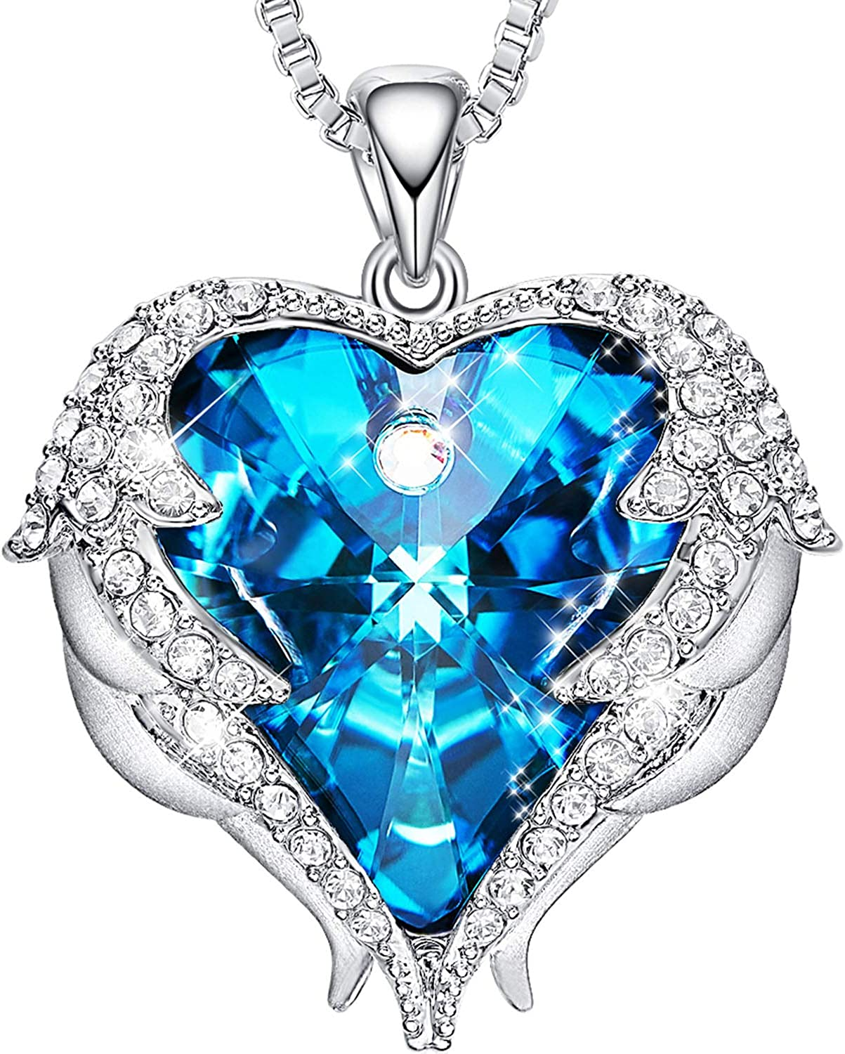 Ocean Heart Necklace Jewelry Wing Necklace Fashion Accessorie Gifts U2D4 V8T2