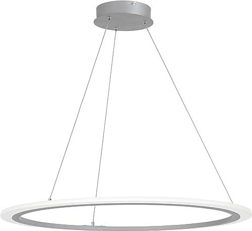 George Kovacs P8141-609-L Discovery LED Pendant, 27 Watt LED, Silver