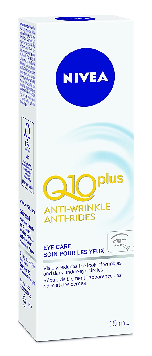 NIVEA Q10plus Anti-Wrinkle Eye Care, 15 mL tube 056594101708