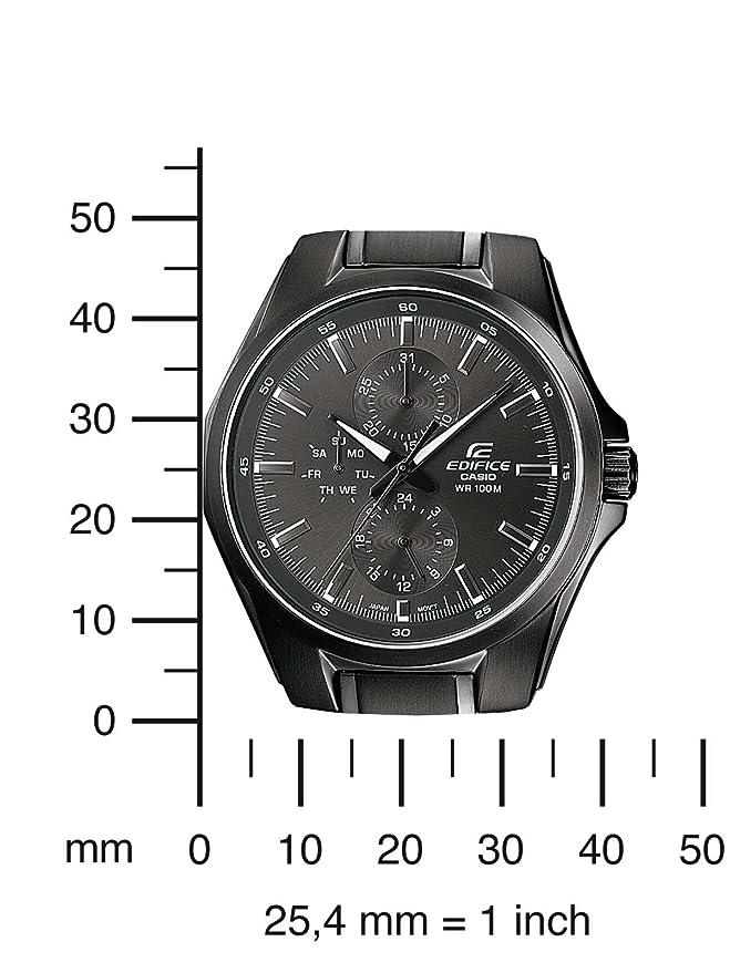 Amazon.com: Casio ef-339bk-1 a1vef Edifice Negro Mens Reloj ...