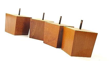 Gambe mobili piedi di ricambio in legno massello mm altezza