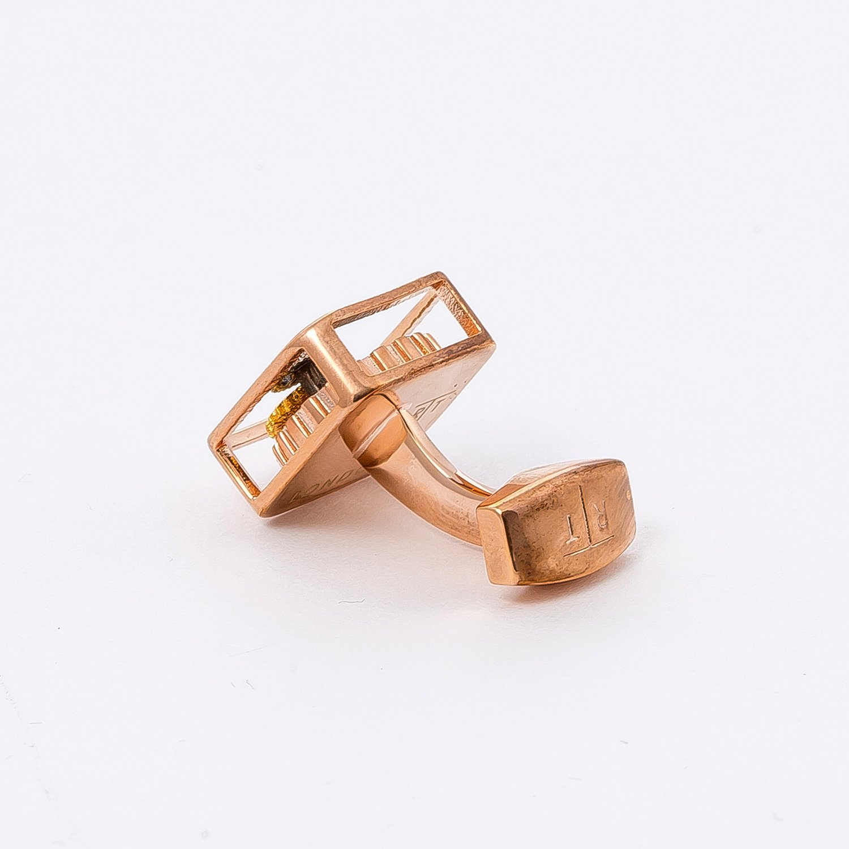 Tateossian Rose Gear Square Cufflinks