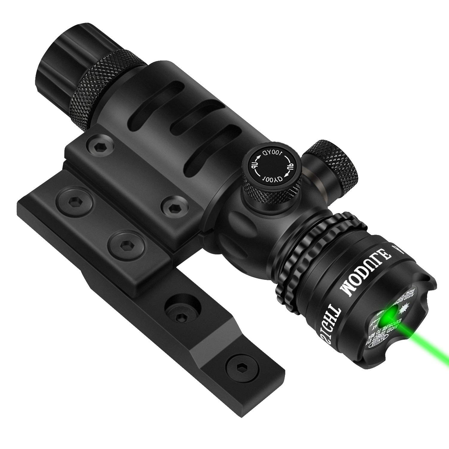 EZshoot Mlok Green Laser Sight Green Dot 532nm Rifle Scope with M-Lok Rail Mount for Outdoor Hunting Shooting - Include Barrel Mount Cable Switch by EZshoot