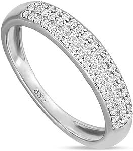 Anillo de diamante natural de 0,29 quilates para mujer con ...
