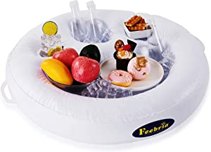 FEEBRIA Inflatable Drink Holders for Pool, Hot Tub, Ocean & River,Float Your Beverages for Parties & Beach