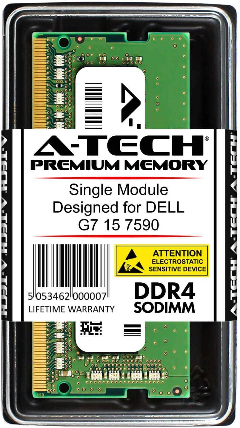 A-Tech 8GB RAM for DELL G7 15 7590 | DDR4 2666 SODIMM PC4-21300 1.2V 260-Pin Memory Upgrade Module