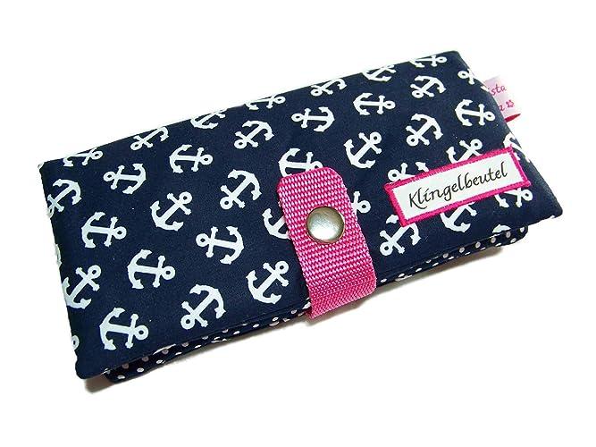 am besten billig neue auswahl zur Freigabe auswählen Handmade Geldbörse Portemonnaie Geldbeutel Börse Anker blau ...