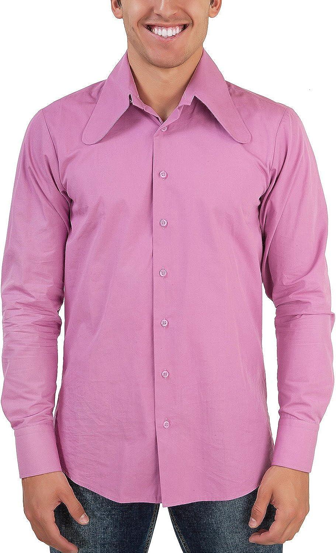 Color rosa 70 GER perro salchicha de oído Cuello Retro Camisa ...